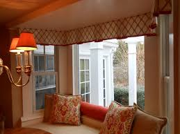 Bay Window Valance Window Treatment Photos Empire Valance Custom Fit To Bay Window