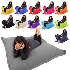 giant bean bag 4 in 1 floor cushion chair bed lounger beanbag kids