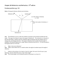 conceptual physics 11th edition ch 28 answers refraction