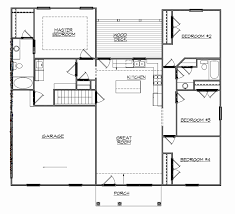 ranch floor plans with walkout basement simple house plans with basement plans walkout basement