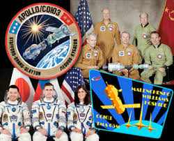 international crew lifts off for space station on anniversary of