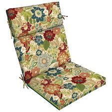 Lowes Patio Chair Cushions Shop Garden Treasures Bloomery Floral Standard Patio Chair Cushion