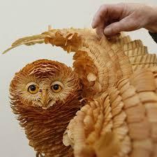 cedar wood sculpture unique crafts wood chips animal sculptures from sergey bobkov