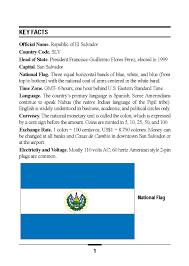 Flag El Salvador Marine Corps Intelligence Activity El Salvador Country Handbook
