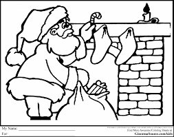 coloring pages kids stunning christmas santa fireplace coloring