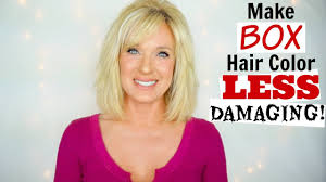 less damaging hair colors make box hair color less damaging quick tip youtube