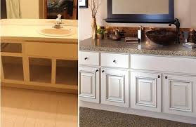 before after cabinet refacing three phase process kitchen cabinets