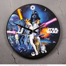 60s Clock Star Wars Movie Wood Clock Cordless Wall Clocks Retroplanet Com
