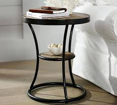 Contemporary Accent Table Side Table Small Side Table Glass Wooden Coffee Home Modern