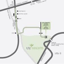 map usj 1 jalan usj heights map 1 1a 47610 subang jaya map selangor map
