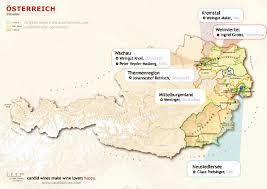 Austria Map Regional Maps Candid Wines