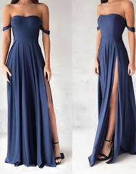 navy blue dress navy blue shoulder prom dress blue evening dresses on