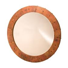 tuscany 36 inch round copper mirror native trails