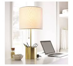 Banana Themed Lamps Room Essentials Stick Table Lamp With Plated Brass Storage Cup