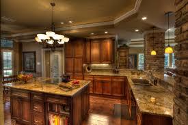 kitchen using cherry cabinets granite tumbled marble backsplash