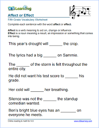 grade 5 vocabulary worksheets u2013 printable and organized by subject