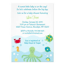 sea themed baby shower invitations calypso sea creature baby