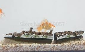 titanic wreckage ship cruises 38cm aquarium fish tank