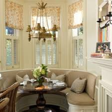Decorating Built In Banquette In Wonderful Traditional Dining - Bay window kitchen table