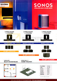 harvey norman sonos home theatre systems 3 1 play 3 wireless