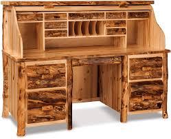 Pine Secretary Desk by Office Furniture Shipshewana In Fireside Log Furniture Llc