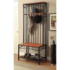 Entry Hall Furniture by 4d Concepts Boltzero Black Hall Tree 159313 The Home Depot