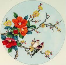 Flower And Bird - birds and flowers bird painting