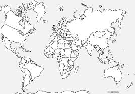 world maps printable world map coloring page for cool2bkids