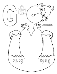 muck monsters letter g g is for gorilla cut and paste