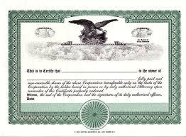blank certificates corporation corpex green eagle selimtd