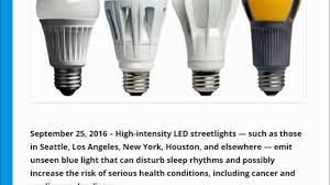 ama warns on led lights has serious health concerns youtube