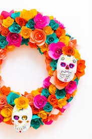diy sugar skull halloween wreath bespoke bride wedding blog