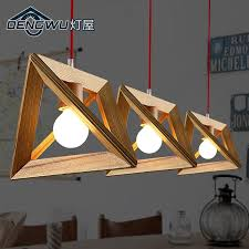 Dining Room Hanging Lights Modern Nordic Wooden Pendant Light Wood Lamp Restaurant Bar Coffee