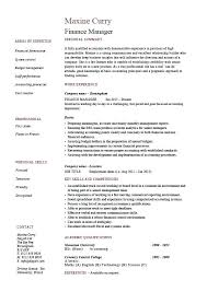 sample resume executive manager sample resume cover letter executive director for finance manager