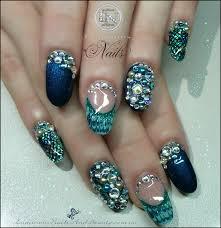 luminous nails mermaid nails colours of the sea nails