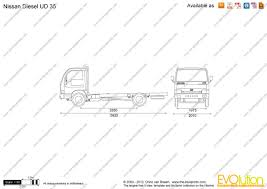 the blueprints com vector drawing nissan diesel ud 35