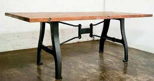 wood table with metal legs reclaimed wood dining tables a timeless statement piece