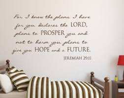 Scripture Wall Decals For Nursery Jeremiah 29 11 Wall Decal Etsy