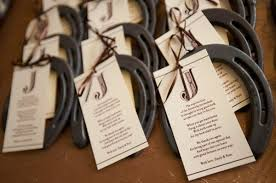 wedding favor idea lucky horseshoe adorable and unique wedding