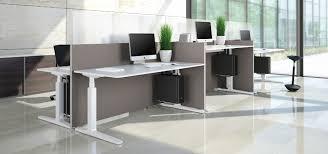 Schreibtisch Mit Kufen Schreibtisch Für Open Space Holzfurnier Metall Hpl Change