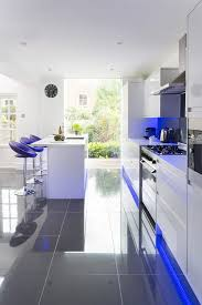 led backsplash kitchen contemporary with natural light safe