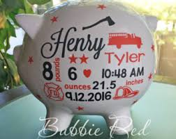 Personalized Gift For Baby Fireman Baby Gift Etsy