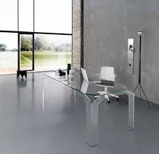 Home Office Glass Desks Nervi Glass Office Desk By Tonelli Design