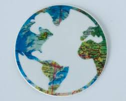 World Map Decal by Travel Stickers Stickers Laptop Stickers Globe Sticker World