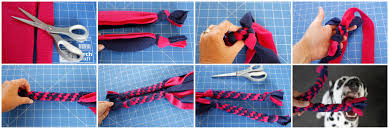 dalmatian diy twisted box knot vs circle twist diy fleece dog
