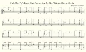 Hay In The Middle Of The Barn Song Old Time Banjo Tabs