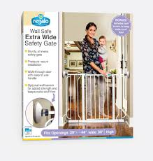 regalo 30 inch wall safe extra wide baby safety gate white