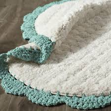 Teal Bath Rugs Crochet Edge Teal Bath Rug Everything Turquoise