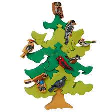 north european birds puzzle tree