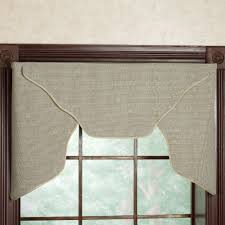home accessories grey cornice valance with glass and wood frame